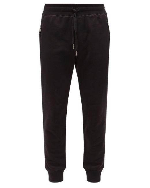 メンズ Dolce & Gabbana コットンスウェットパンツ Black