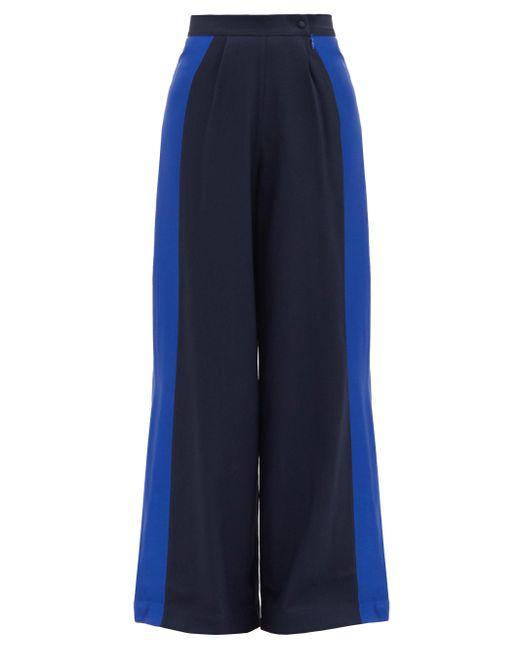 Taller Marmo パーム ビーチ クレープワイドパンツ Blue