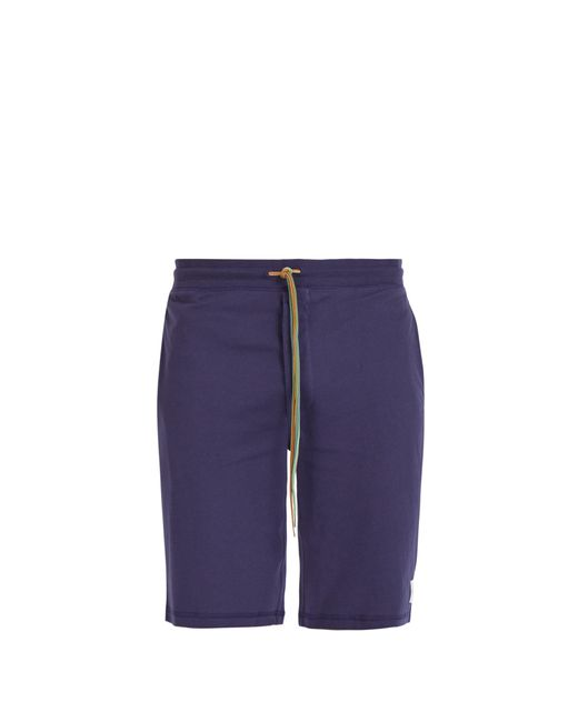 Paul Smith Blue Cotton-jersey Pyjama Shorts for men