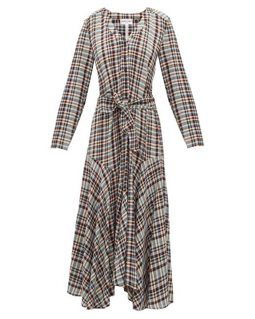 Apiece Apart Multicolor Pacifica Belted Checked Dress