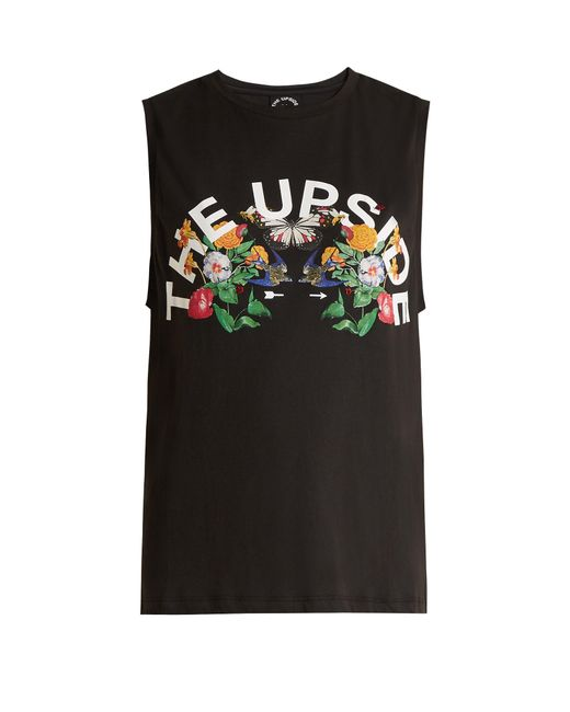 The Upside | Black Chambal Garden-print Performance Tank Top | Lyst