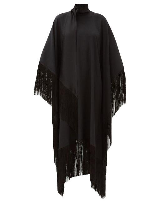 Taller Marmo ミセス ロス フリンジクレープドレス Black