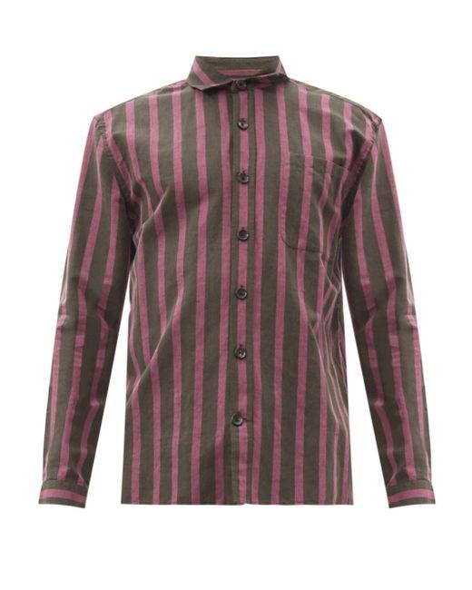 メンズ Oliver Spencer エリントン ストライプ コットンブレンドシャツ Multicolor