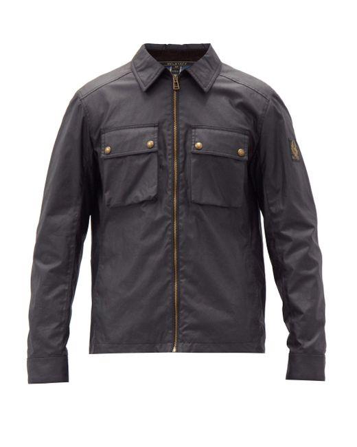Belstaff Black Dunstall Waxed-cotton Jacket for men
