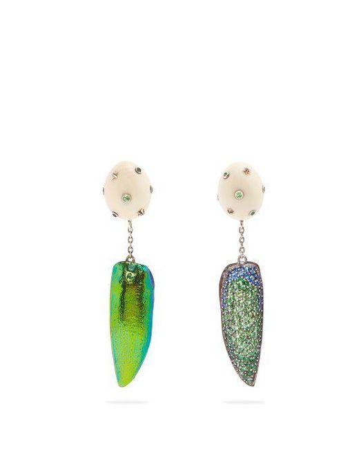 Bibi van der Velden Scarab Star earrings Obys4HxX
