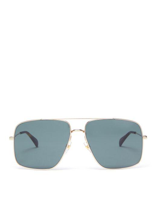 Givenchy Metallic Aviator Metal Sunglasses