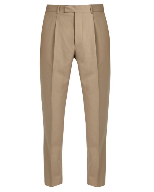 Officine Generale - Natural Marcel Slim Leg Cotton Trousers for Men - Lyst