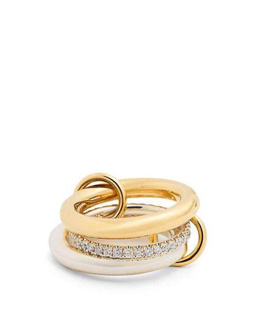 Spinelli Kilcollin - Metallic Libra Diamond, Silver & Yellow-gold Ring - Lyst