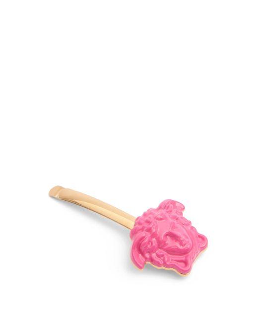 Versace メデューサ ヘアクリップ Pink