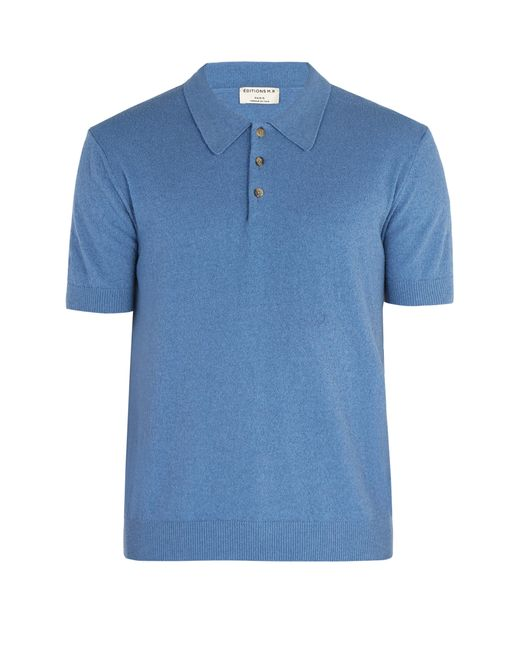 fd54bdf43692 Éditions MR - Blue Jude Terry Towelling Cotton Blend Polo Shirt for Men -  Lyst ...