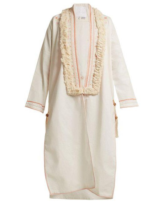 Embroidered cotton cover-up Love Binetti WHhsxJqX