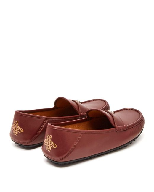 bd9afeb22df ... Gucci - Red Kanye Leather Loafers for Men - Lyst