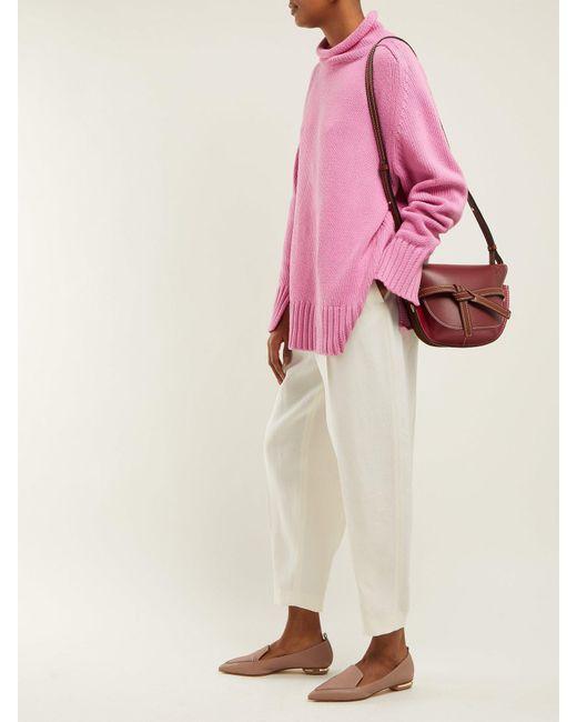eed27e90b86 ... Nicholas Kirkwood - Pink Beya Grained Leather Loafers - Lyst ...