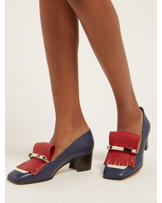 71d2b1dfef1 ... Valentino - Multicolor Uptown Leather Loafers - Lyst ...