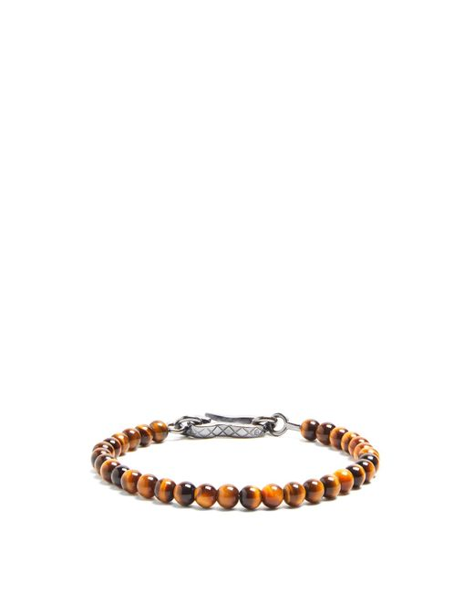 Bottega Veneta | Brown Tigers-eye Bracelet for Men | Lyst