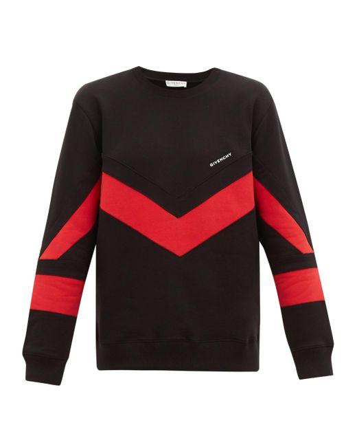 メンズ Givenchy シェブロン コットンスウェットシャツ Multicolor