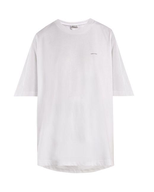 Balenciaga - White Cocoon Copyright Logo Cotton Jersey T Shirt - Lyst