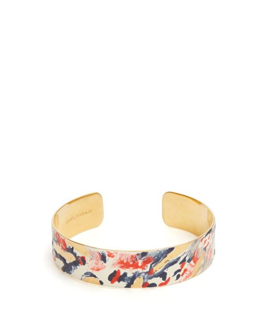Isabel Marant - Multicolor Impressionist Resin-coated Cuff - Lyst