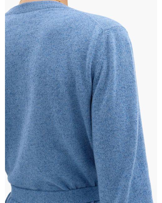 Brock Collection ラモ ベルテッド ウールカシミアカーディガン Blue