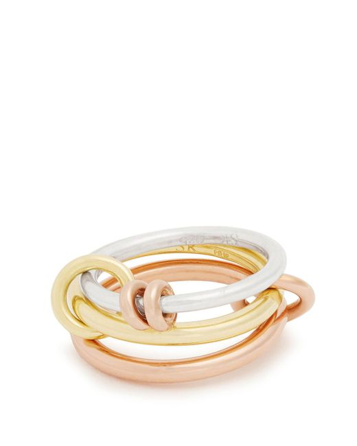 Spinelli Kilcollin - Metallic Raneth Silver, Yellow & Rose-gold Ring - Lyst
