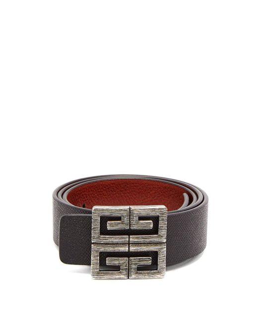 e8b48ba7f05 Men's Brown 4g Logo Buckle Reversible Leather Belt