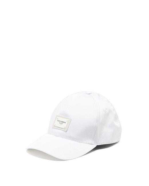 メンズ Dolce & Gabbana コットンブレンドキャップ White