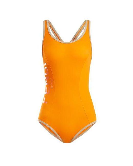Fendi - Orange Racerback Performance Swimsuit - Lyst