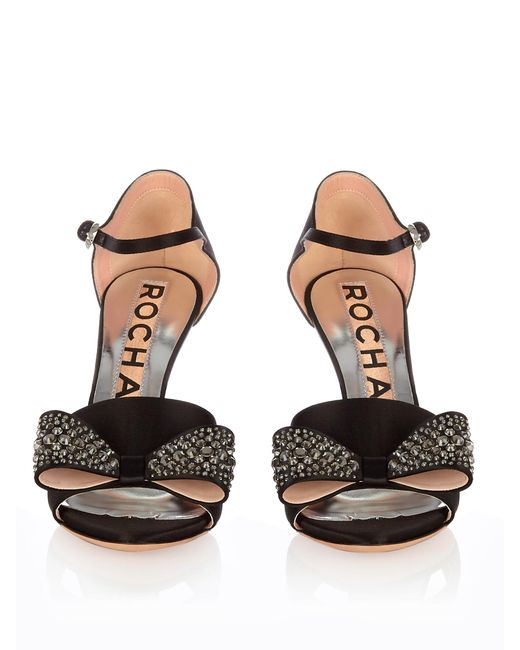 Rochas Embellished bow sandals FvOe4
