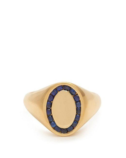 Jessica Biales - Blue Sapphire & Yellow-gold Ring - Lyst