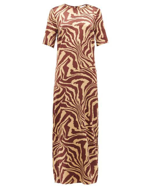 Ganni タイガー シルクドレス Multicolor