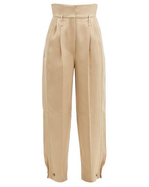 Givenchy ハイライズ ボタンカフス ストレートパンツ Natural