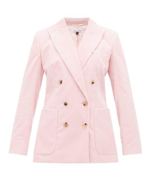 Bella Freud Bianca コットンコーデュロイ ダブルジャケット Pink