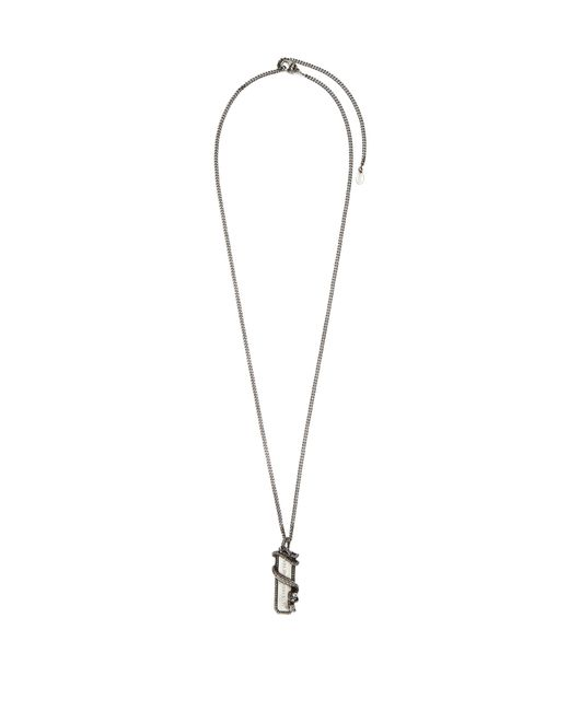 Alexander McQueen - Metallic Snake Tag Necklace for Men - Lyst