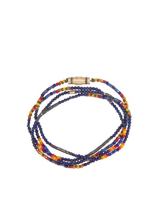 メンズ Luis Morais ダイヤモンド&ラピスラズリ 14kゴールドネックレス Blue