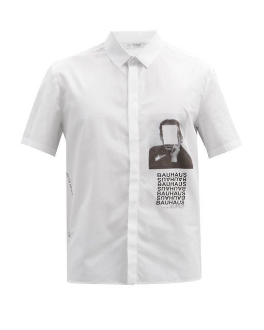メンズ Neil Barrett ヴァルターグロピウス ショートスリーブシャツ White