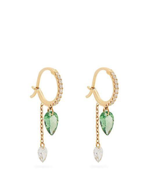 Raphaele Canot | Metallic Set Free Diamond, Tsavorite & Yellow-gold Earrings | Lyst