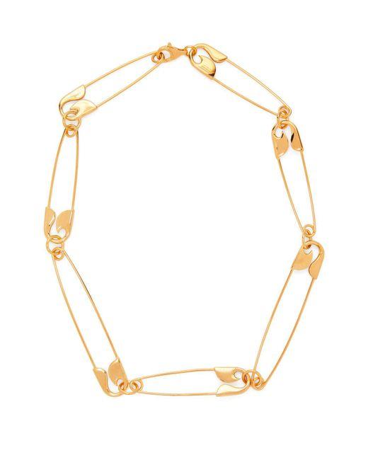 Balenciaga - Metallic Safety Pin Necklace - Lyst