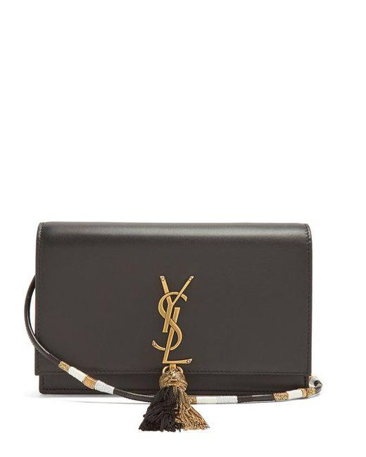 Saint Laurent - Black Kate Small Leather Cross-body Bag - Lyst