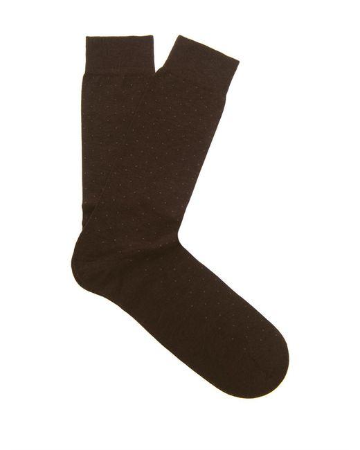 Pantherella | Brown Gadsbury Pin-dot Socks for Men | Lyst