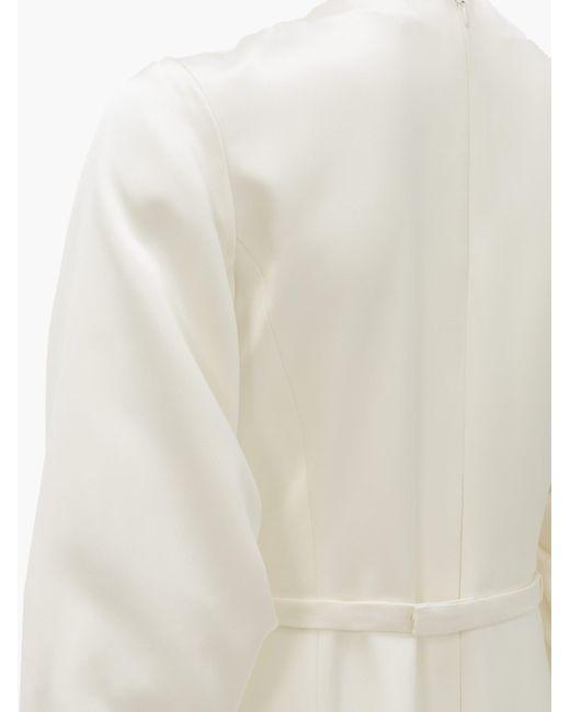 Gabriela Hearst ヘスティア フリンジヘム シルクサテンドレス White