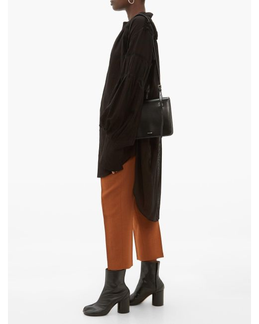 Rick Owens Easy Astaires ハイライズ クレープパンツ Brown