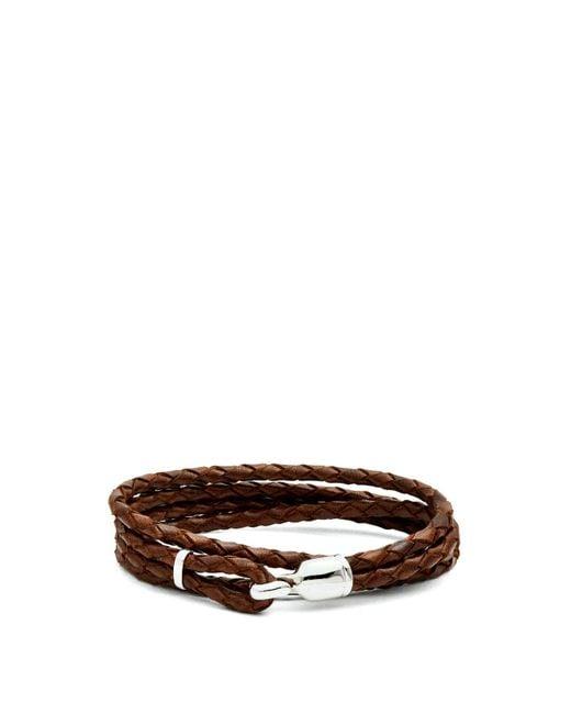 Miansai - Brown Trice Braided Leather Bracelet for Men - Lyst