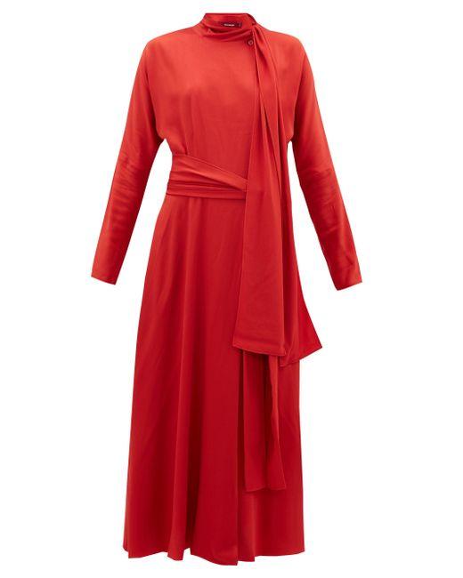 Sies Marjan ビー シルククレープドレス Red