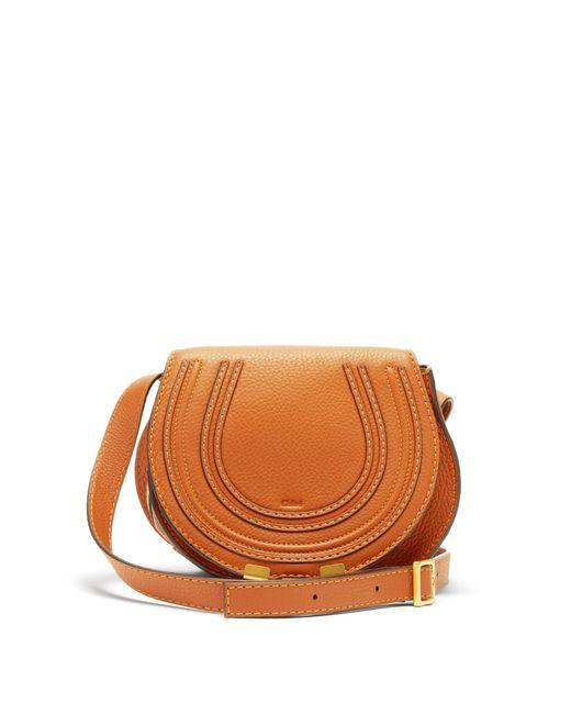 Chloé Brown Marcie Mini Leather Cross Body Bag