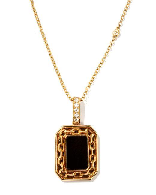 メンズ SHAY ダイヤモンド&オニキス 18kゴールドネックレス Metallic