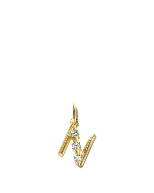 Jade Trau ダイヤモンド 18kゴールドイニシャルチャーム N-z Multicolor