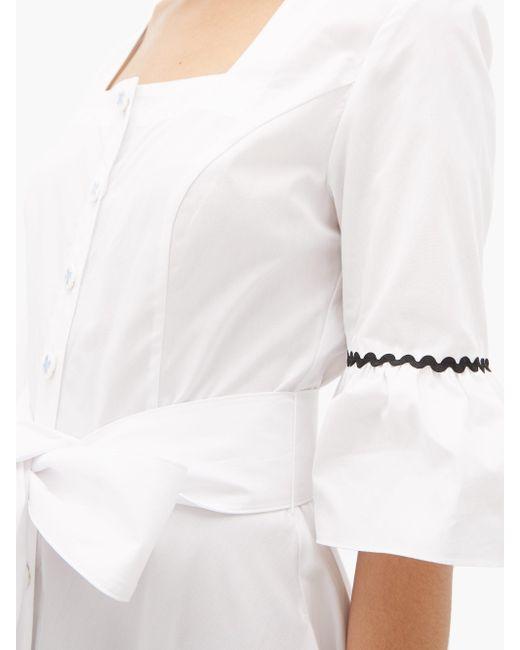 BATSHEVA Delsey コットンドレス White