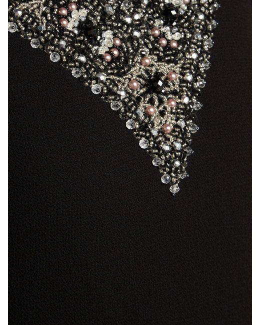 d512730ae2 ... Goat - Black Glam Faux Pearl And Crystal Wool Crepe Dress - Lyst