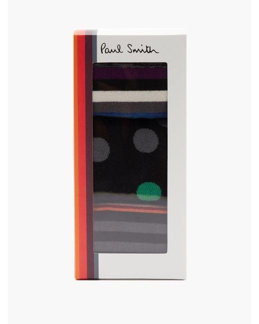 メンズ Paul Smith コットンブレンドソックス X3 Multicolor