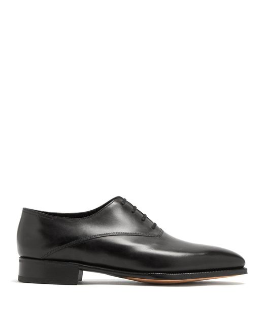 John Lobb - Black Becketts Leather Oxford Shoes for Men - Lyst